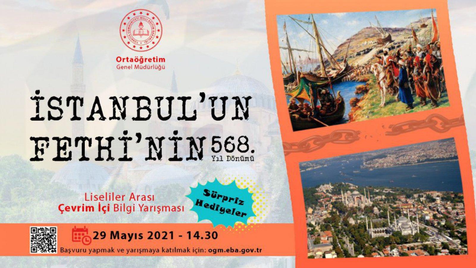 İstanbul'un Fethi Liseliler Arası Çevrim İçi Bilgi Yarışması